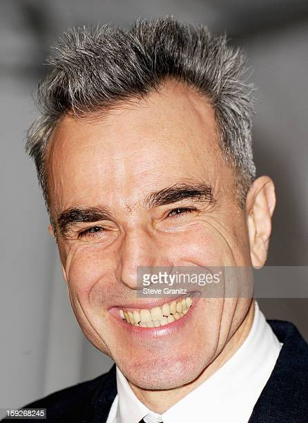 Actor Daniel DayLewis poses in the press room during the 18th Annual Critics' Choice Movie Awards at The Barker Hanger on January 10 2013 in Santa...