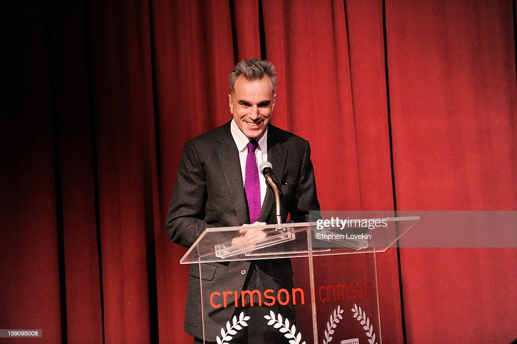 Actor Daniel Day-Lewis speaks onstage at the 2012 New York Film Critics Circle Awards at Crimson on January 7, 2013 in New York City.