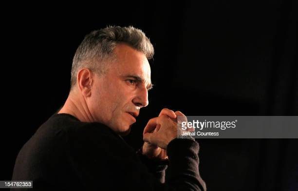 Actor Daniel DayLewis speaks onstage at TIME's screening of Lincoln and Q A on October 25 2012 in New York City