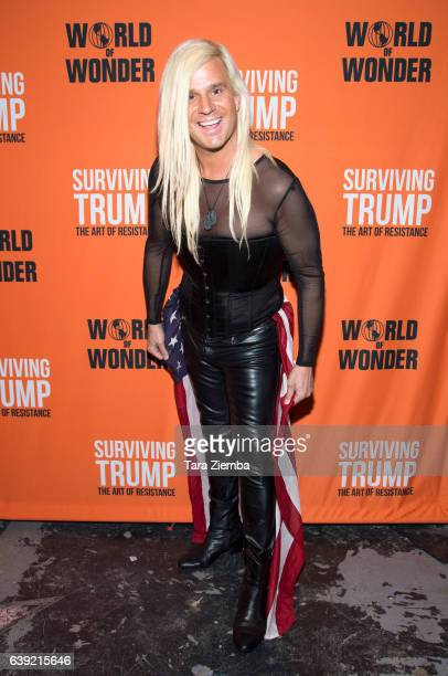 Actor Daniel DiCriscio attends 'Surviving Trump The Art Of Resistance' gallery exhibit at World Of Wonder on January 18 2017 in Hollywood California