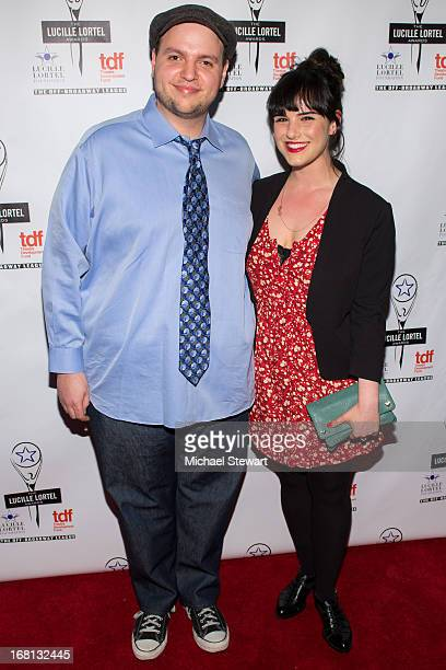 Actor Daniel Everage and Molly Hager attend the 2013 Lucille Lortel Awards at Jack H Skirball Center for the Performing Arts on May 5 2013 in New...