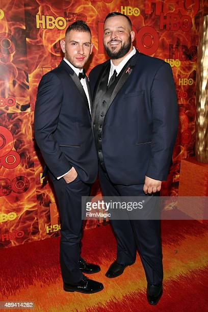 Actor Daniel Franzese and Joseph Bradley Phillips and attend HBO's Official 2015 Emmy After Party at The Plaza at the Pacific Design Center on...