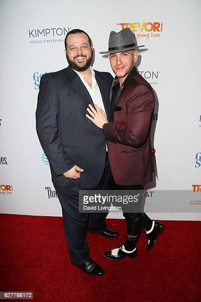 Actor Daniel Franzese and Joseph Bradley Phillips arrive at the TrevorLIVE Los Angeles 2016 Fundraiser at The Beverly Hilton Hotel on December 4 2016...