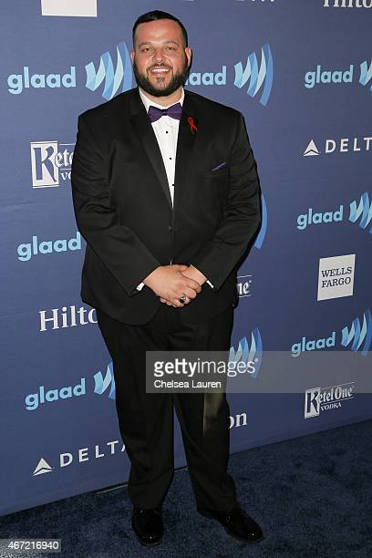 Actor Daniel Franzese arrives at the 26th annual GLAAD media awards at The Beverly Hilton Hotel on March 21 2015 in Beverly Hills California