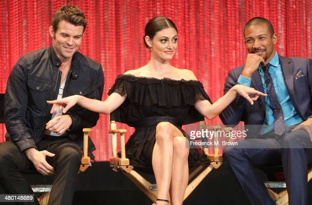 """Actor Daniel Gillies, actress Phoebe Tonkin and actor Charles Michael Davis speak during The Paley Center for Media's PaleyFest 2014 Honoring """"The..."""