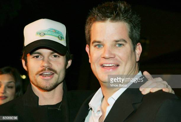 Actor Daniel Gillies and producer John Rogers attend the Twentieth Century Fox film Hide and Seek on January 24 2005 in Los Angeles California