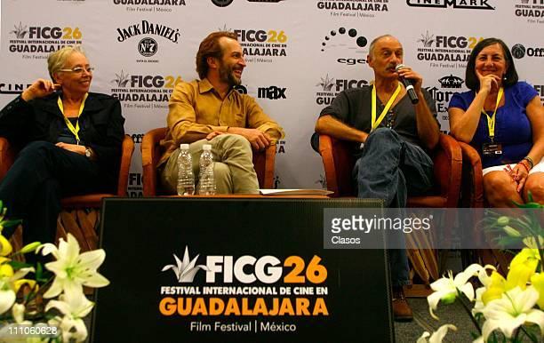 Actor Daniel Gimenez Cacho and Pablo Parelman in the presentation of the movie Lecciones de Pintura in FICG 26 on Guadalajara Jalisco on March 28 2011