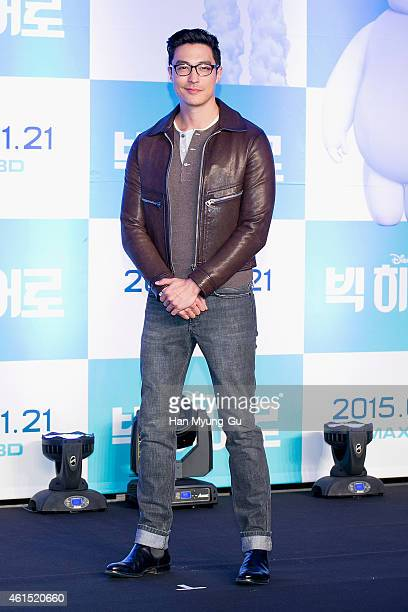 Actor Daniel Henney attends the press conference for Disney Big Hero 6 at Conrad Hotel on January 14 2015 in Seoul South Korea The film will open in...