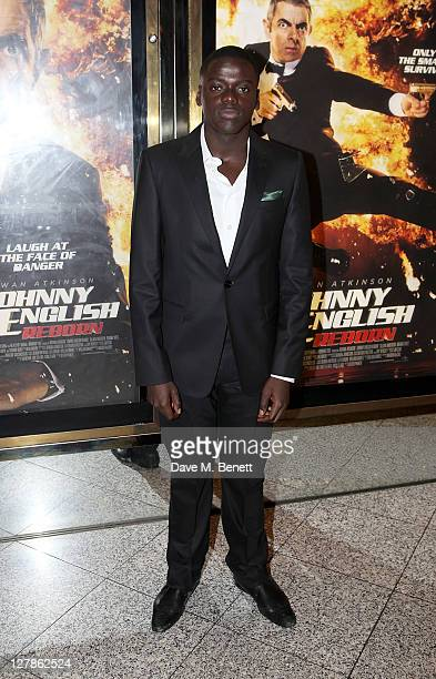 Actor Daniel Kaluuya arrives at the UK Premiere of 'Johnny English Reborn' at Empire Leicester Square on October 2, 2011 in London, England.