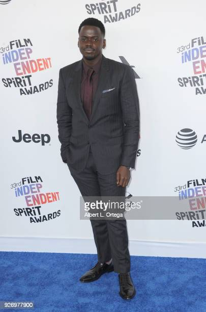 Actor Daniel Kaluuya arrives for the 2018 Film Independent Spirit Awards on March 3 2018 in Santa Monica California