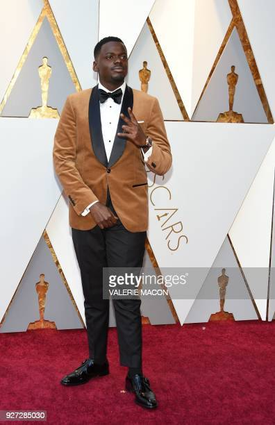 Actor Daniel Kaluuya arrives for the 90th Annual Academy Awards on March 4 in Hollywood California / AFP PHOTO / VALERIE MACON