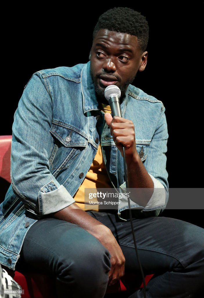 Actor Daniel Kaluuya speaks on stage when he attends SAG-AFTRA Foundation Conversations 'Get Out' + Allison Williams and Daniel Kaluuya at SAG-AFTRA Foundation Robin Williams Center on October 11, 2017 in New York City.