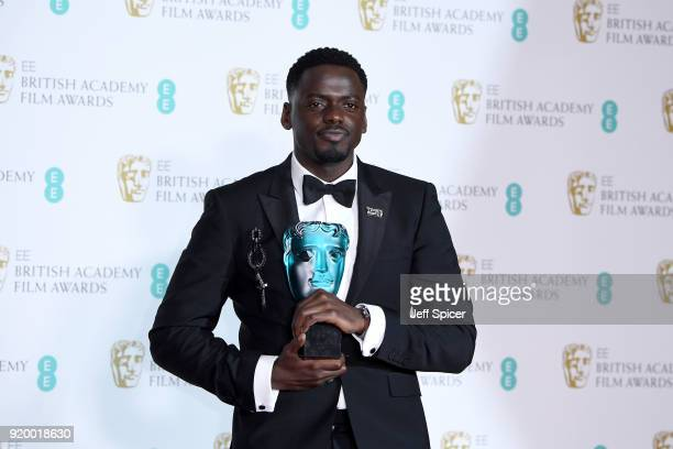 Actor Daniel Kaluuya winner for the EE Rising Star award poses in the press room during the EE British Academy Film Awards held at Royal Albert Hall...