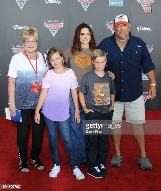 Actor Daniel Lawrence Whitney aka Larry the Cable Guy and family attend the World Premiere of Disney and Pixar's 'Cars 3' at Anaheim Convention...