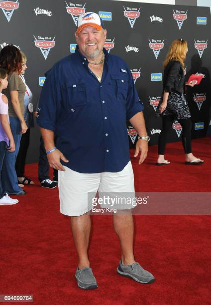 Actor Daniel Lawrence Whitney aka Larry the Cable Guy attends the World Premiere of Disney and Pixar's 'Cars 3' at Anaheim Convention Center on June...