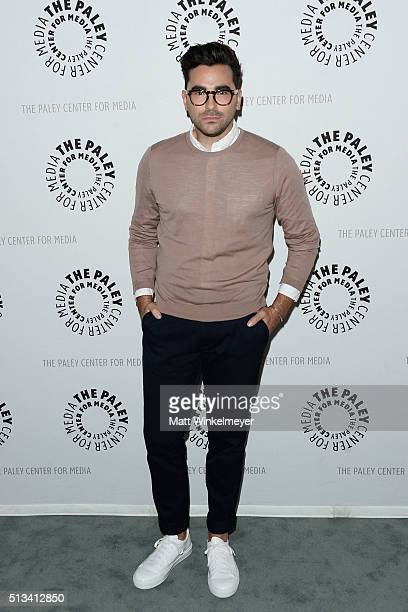 Actor Daniel Levy attends the Paley Center for Media presents An Evening with 'Schitt's Creek' at The Paley Center for Media on March 2 2016 in...