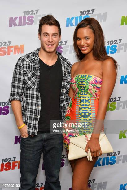 Actor Daniel Lipshutz and actress Taelyr Robinson arrive at the 1027 KIIS FM Teen Choice Awards PreParty at W Los Angeles Westwood on August 9 2013...