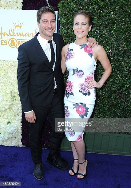 Actor Daniel Lissing and actress Erin Krakow attend the 2015 Summer TCA Tour Hallmark Channel and Hallmark Movies And Mysteries on July 29 2015 in...