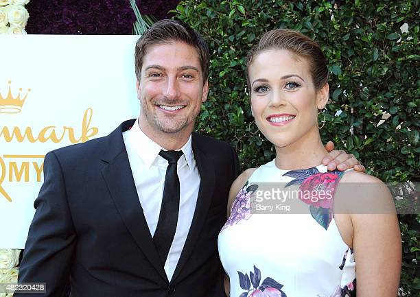 Actor Daniel Lissing and actress Erin Krakow attend the 2015 Summer TCA Tour - Hallmark Channel and Hallmark Movies And Mysteries on July 29, 2015 in...