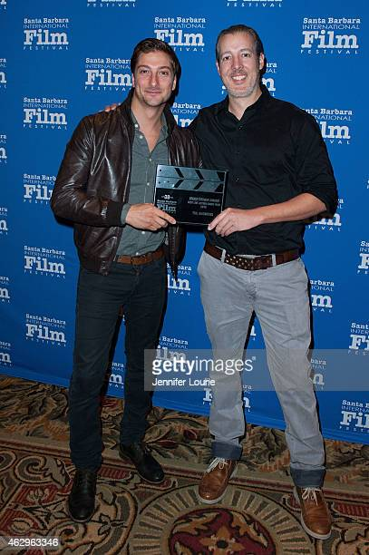 Actor Daniel Lissing and director Michael Goode of 'The Answers' attends the Awards Breakfast for the 30th Santa Barbara International Film Festival...