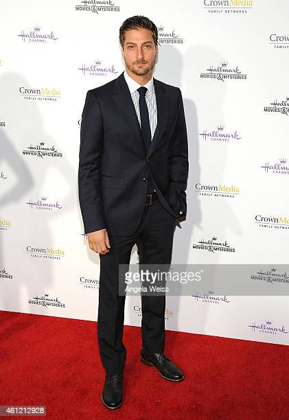 Actor Daniel Lissing arrives at Hallmark Channel Hallmark Movie Channel's 2015 Winter TCA party at Tournament House on January 8 2015 in Pasadena...