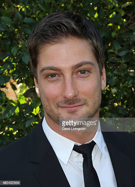 Actor Daniel Lissing attends Hallmark Channel and Hallmark Movies and Mysteries at the 2015 Summer TCA Tour at a private residence on July 29 2015 in...