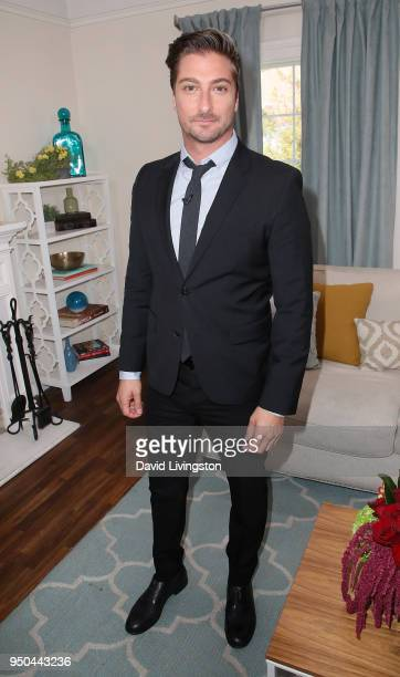 Actor Daniel Lissing visits Hallmark's Home Family at Universal Studios Hollywood on April 23 2018 in Universal City California