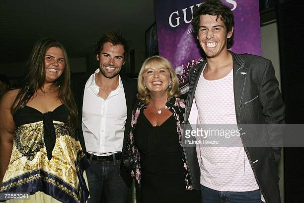Actor Daniel MacPherson his sister his brother Andrew and mother Anne MacPherson attend the Guess Faces To Watch party at Catalina restaurant Rose...