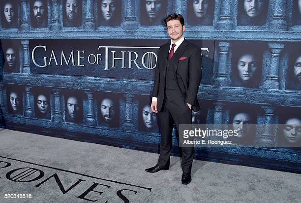 Actor Daniel Portman attends the premiere of HBO's 'Game Of Thrones' Season 6 at TCL Chinese Theatre on April 10 2016 in Hollywood California