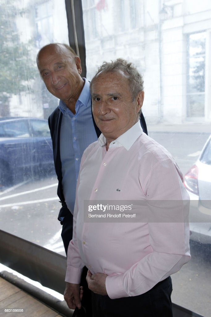 Actor Daniel Prevost and Journalist Pierre Bonte attend Tribute To Jean-Claude Brialy during 'Journees Nationales du Livre et du Vin'on May 14, 2017 in Saumur, France.