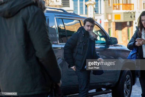 Actor Daniel Radcliffe appears on Main Street at the Sundance Film Festival on January 28 2019 in Park City Utah