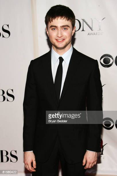 Actor Daniel Radcliffe arrives at the 62nd Annual Tony Awards held at Radio City Music Hall on June 15 2008 in New York City