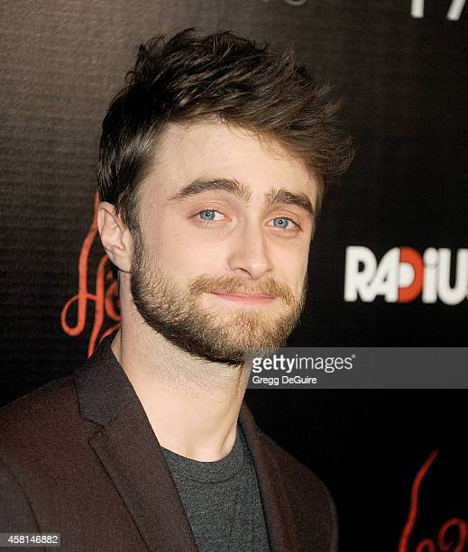 Actor Daniel Radcliffe arrives at the Los Angeles premiere of Horns at ArcLight Hollywood on October 30 2014 in Hollywood California