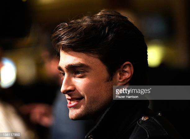 Actor Daniel Radcliffe arrives at the Premiere of CBS Films' 'The Woman In Black'at Pacific Theaters at the Grove on February 2 2012 in Los Angeles...