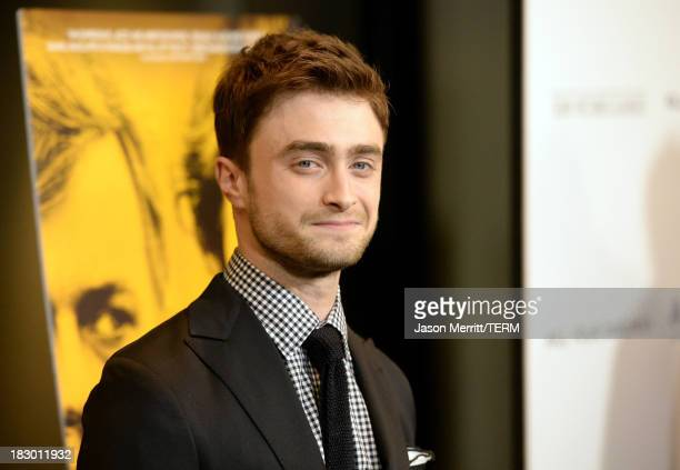 Actor Daniel Radcliffe arrives at the premiere of Sony Pictures Classics' 'Kill Your Darlings' at Writers Guild Theater on October 3 2013 in Beverly...