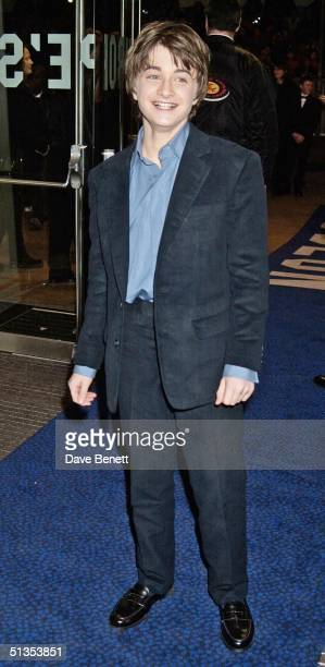 Actor Daniel Radcliffe at the UK Film Premiere of 'Harry Potter And The Philosopher's Stone' held at the Odeon Leicester Square on 4th November 2001...