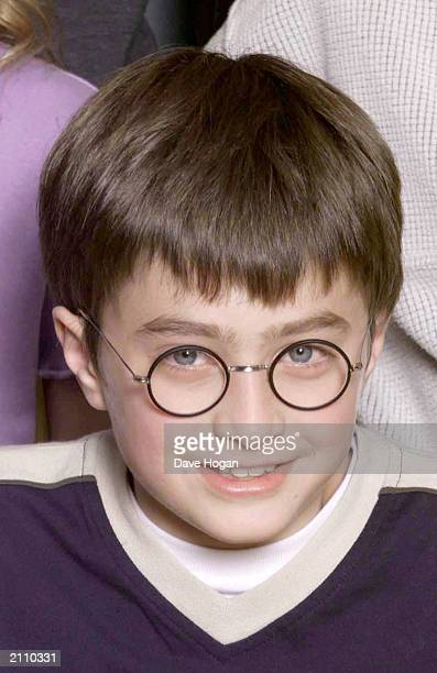 Actor Daniel Radcliffe attends a photocall to present the new cast of the Harry Potter Films London August 23 2000