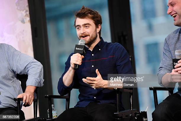Actor Daniel Radcliffe attends AOL Build Presents Daniel Radcliffe Daniel Ragussis Michael German discussing their new film 'Imperium' at AOL HQ on...