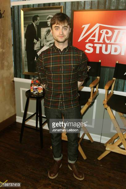 Actor Daniel Radcliffe attends Day 1 of the Variety Studio at 2013 Sundance Film Festival on January 19 2013 in Park City Utah