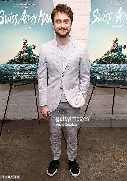 Actor Daniel Radcliffe attends Swiss Army Man New York Premiere at Metrograph on June 21 2016 in New York City