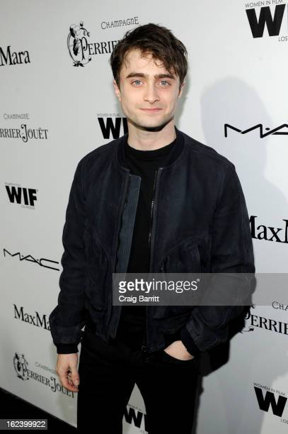 Actor Daniel Radcliffe attends the 6th Annual Women In Film PreOscar Party hosted by Perrier Jouet MAC Cosmetics and MaxMara at Fig Olive on February...