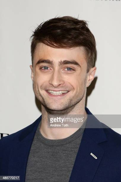 Actor Daniel Radcliffe attends the after party for the Broadway opening night of 'The Cripple Of Inishmaan' at The Edison Ballroom on April 20 2014...