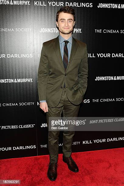 """Actor Daniel Radcliffe attends The Cinema Society and Johnston & Murphy host a screening of Sony Pictures Classics' """"Kill Your Darlings"""" at the Paris..."""