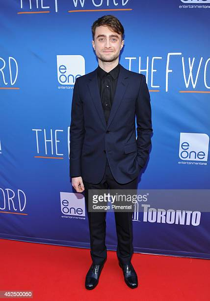 Actor Daniel Radcliffe attends 'The F Word' Toronto premiere at Scotiabank Theatre on July 21 2014 in Toronto Canada