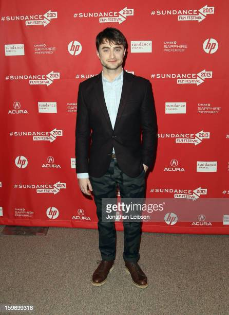 Actor Daniel Radcliffe attends the 'Kill Your Darlings' premiere at Eccles Center Theatre during the 2013 Sundance Film Festival on January 18 2013...