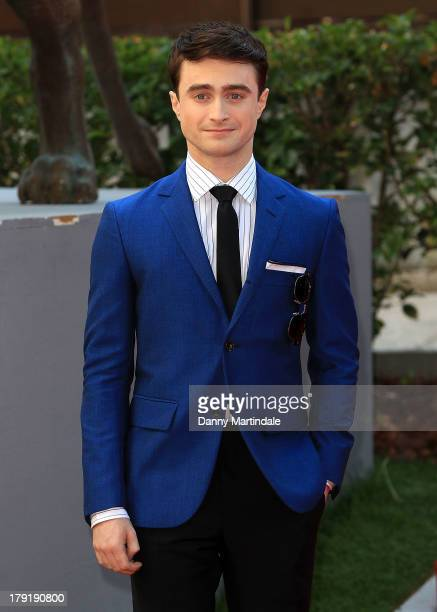 Actor Daniel Radcliffe attends the 'Kill Your Darlings' Premiere during the 70th Venice International Film Festival at Sala Darsena on September 1...