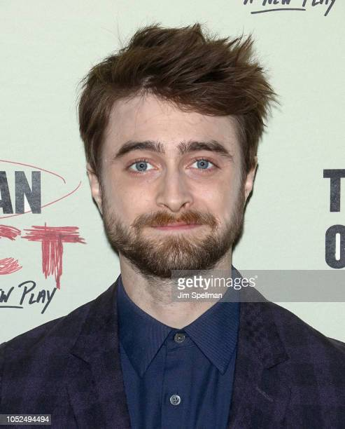Actor Daniel Radcliffe attends The Lifespan of A Fact opening night after party at Brasserie 8 1/2 on October 18 2018 in New York City