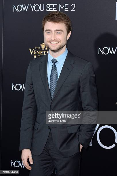 Actor Daniel Radcliffe attends the 'Now You See Me 2' world premiere at AMC Loews Lincoln Square 13 theater on June 6 2016 in New York City