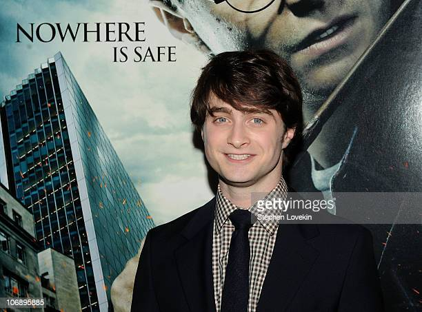 Actor Daniel Radcliffe attends the premiere of Harry Potter and the Deathly Hallows Part 1 at Alice Tully Hall on November 15 2010 in New York City