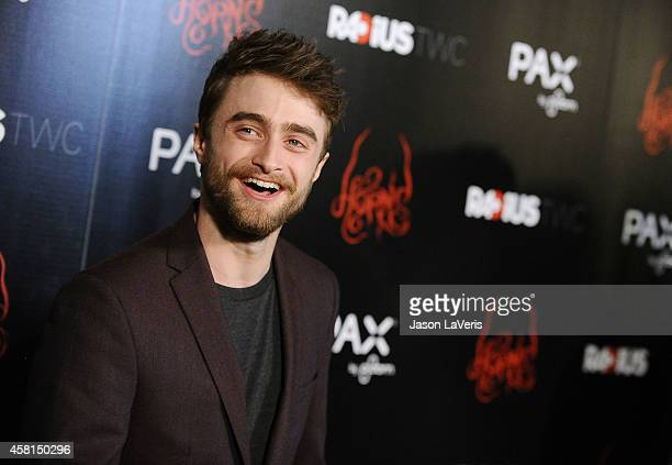 Actor Daniel Radcliffe attends the premiere of Horns at ArcLight Hollywood on October 30 2014 in Hollywood California